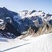 Im oberen Teil des östlichen Obertalgletschers. Es hat noch immer eine geschlossene Schneedecke. Wenn man mich fragt, ich glaube nicht, dass dieser Gletscher diesen Sommer noch aper wird.