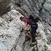 Erste Klettersteigmeter