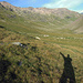 Blick zurück vom Talgrund im Val Minor. Wolkenlos der Grat, den ich gegangen bin heute.