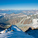 In der Ferne thronen Gran Paradiso (4061 m) und Mont Blanc (4810 m).