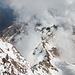 Tiefblicke von der Capanna Regina Margherita (4554 m)