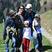 Lanki, Uta, Bruno, Jakob und Maja bei der Micheles Alm