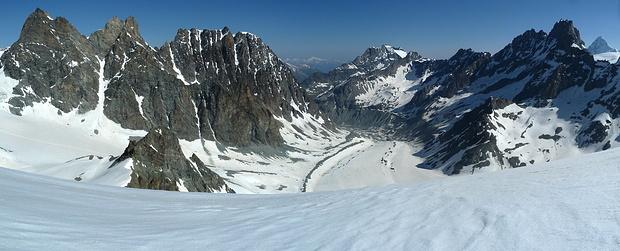 Panorama wenig unterhalb des Pointe Marcel Kurz!