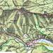 Karte mit Route: Mitterbach - Gemeindealpe - Eiserner Herrgott - Erlaufursprung - Lindenhof - Erlaufsee