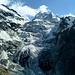 Die Zunge des Glacier du Mont Collon.