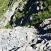 Rückblick in den Aufstieg zum Bockalpeli, ziemlich steil