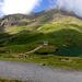 Am Bachsee mit Blick zu Simelihorn und Reeti, welche sich noch in der Wolke verhüllen