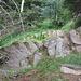 Un tratto scalinato del sentiero che scende al torrente Calancasca.