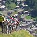 Hoch über Zermatt wandern wir Richtung Höhbalmen