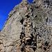 Foto von 2. Besteigungsversuch am 6.9.2011: <br /><br />Sicht aus der Lücke auf den Einstieg in den Oberberg Ostgrat. Gleich zu Beginn liegen die schwierigsten Klettermeter.