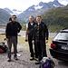 Jörg, Sven und Steffen auf dem Parkplatz an der Bielehöhe.