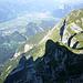 Tiefblick zur Aufstiegsroute von der Enderlinhütte