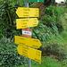 Wegweiser oberhalb Grünau
