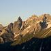 Trettachspitze (2595m) und Mädelegabel (2644m).