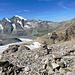 Blick vom Gipfel des Sass Queder zum Piz Morteratsch.