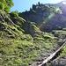 Wenig schöner Abstieg in den Heuzug, da hätte man sicher einen besseren Weg gefunden.