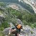 im steileren Teil des Aufstieges