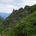 Aufstieg durch die Nordflanke auf den Grat zum Girenspitz. Einfacher als gedacht...