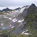 Aussicht vom Hochwart in RIchtung Lavtinahörner und Pizol mitsamt Gletscherrest