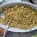Trenette di pasta fresca al pesto di erbe e noci