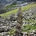 Mal 'n echt hoher Steinmann vor der 'weinenden' Felsbasis der Nordflanke des Zitterklapfens.<br />Von dort oben kommt man runter...