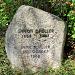 Gedenkstein für den Schriftsteller Simon Gfeller - unterhalb Eggschulhaus