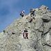 Klettern auf dem Grat