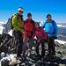 Gipfelfoto mit Bergführer