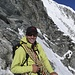 das Seil ist aufgewickelt; es geht hinunter zur Weisshornhütte