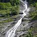 La cascata del Rio d'Alba (329 metri di altezza)