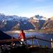 Bergwelt im Morgenlicht – Rast bei der Alp Husen