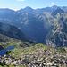 Tiefblick vom Einstieg auf den Lago d'Orsalìa