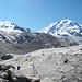 Gletscherwelt unterhalb der Monte Rosa