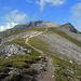 Unproblematischer Aufstieg zum nächsten Gipfel, dem Augstenberg.