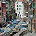 Riomaggiore - Hafengasse für die Boote der Einheimischen