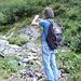 [u Poncione] fotografa incuriosito il torrente asciutto che abbiamo attraversato