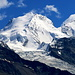 Einfach beeindruckend - der majestätische [peak1416 Dom 4545m] auf der andern Talseite <br />(Gipfel des dritthöchsten Bergmassiv der Alpen, hinter dem Mont-Blanc-Massiv und dem Monte-Rosa-Massiv)