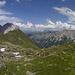 Die Kalkwand vom Trinkwassersee der Innsbrucker Hütte gesehen