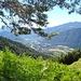 Blick von der Alpe Gora nach Santa Maria Maggiore, den Hauptort des Valle Vigezzo, der an der breitesten Stelle des Tales liegt.