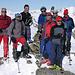 Die frivole Gipfeltruppe auf dem Guggernüll 2886m