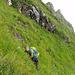 Querung von der Chammhaldenroute zum Felstürmchen