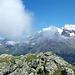 Panorama von den Berner Alpen zur Weissmies