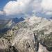 Angekommen am Gipfel der Gr. Wildgrubenspitze -- Blick zur nahen Roggalspitze, dahinter Spuller-Schafberg