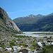 Blick zurück zum Ende des Stausees - in der Bildmitte das [http://www.hikr.org/tour/post52907.html Sidelhorn]