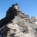 Der steilste Abschnitt im Gipfelgrat...