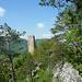 Beginn der Gerstelflue-Traverse – noch ist das Schloss Waldenburg nahe