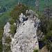 Rückblick ins felsige Paradies der Gerstelfluh – von unten grüsst der Bergfried des Schlosses