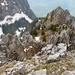 Abstieg dem Südgrat entlang Richtung Vorgipfel 1763m