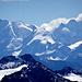 Ausschnitt aus dem Gipfelmeer dieseits der Grenze: Berninagruppe