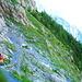 Rückblick auf den ersten Teil der Querung. Weitere Bilder von dieser Querung habe ich beim Abstieg am 2. Tag gemacht (siehe ab [http://www.hikr.org/gallery/photo1235179.html?post_id=70582 Bild 49])